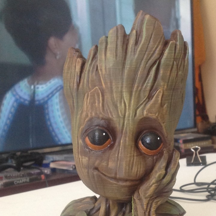 "Picture of print of Baby Groot flower pot: ""Gardens"" of the Galaxy 2 This print has been uploaded by Chris Visser"