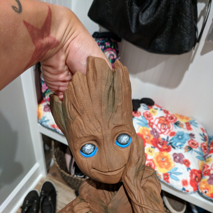 "Picture of print of Baby Groot flower pot: ""Gardens"" of the Galaxy 2 This print has been uploaded by Andy Coulliette"
