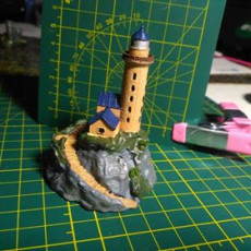 Picture of print of Lighthouse on a rock
