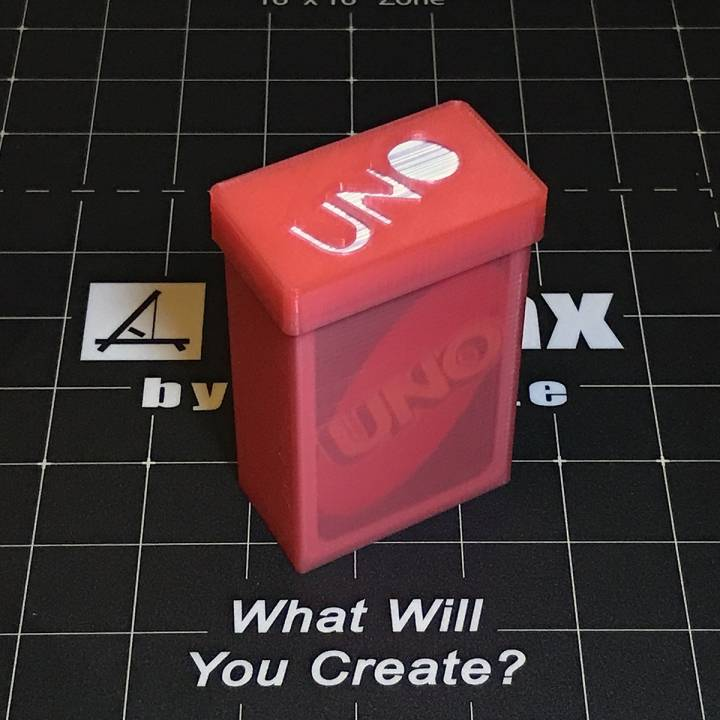 graphic about Printable Uno Cards identified as 3D Printable UNO card deck holder by means of 3D Verkstan