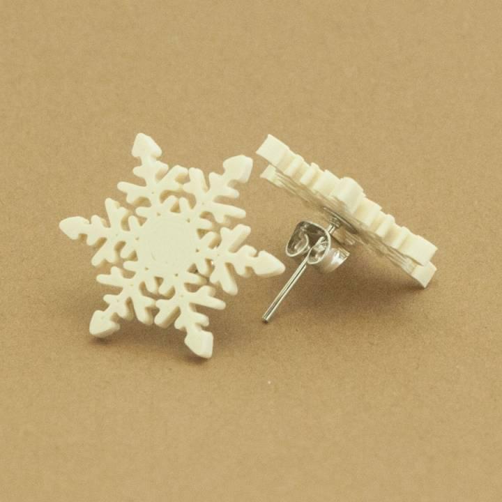 Stud earrings snowflake 2