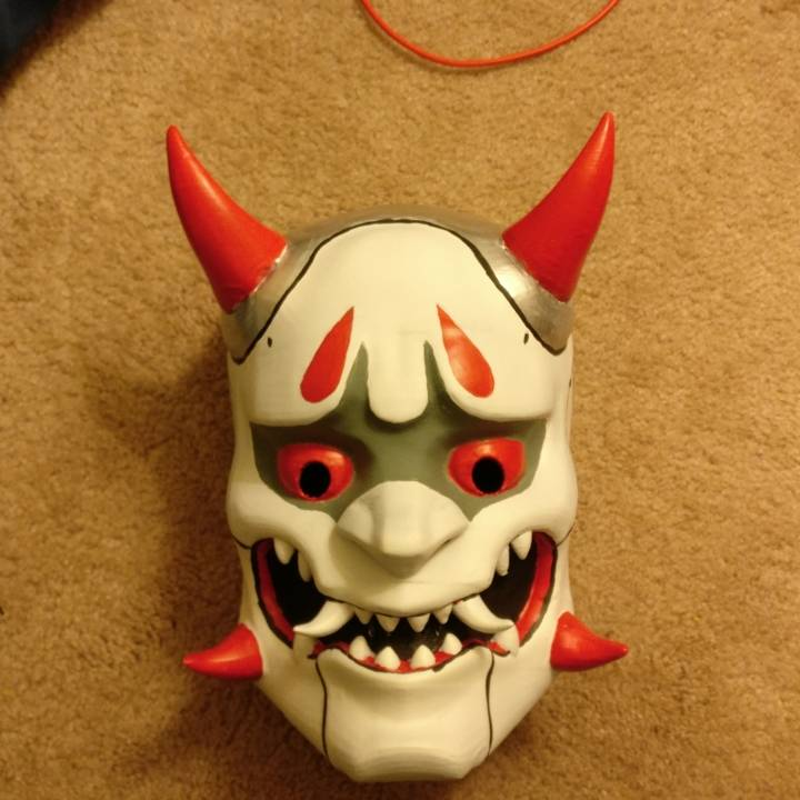 3d Printable Oni Genji Mask By Kevin Chang