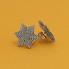 Stud earrings snowflake 3