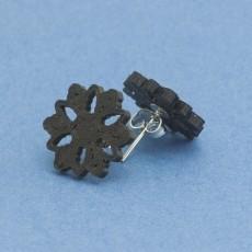 Stud earrings snowflake 4