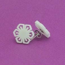 Stud earrings snowflake 6