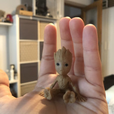 Picture of print of Baby Groot 这个打印已上传 Alex I