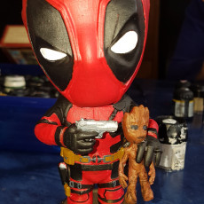 Picture of print of Deadpool vs Groot