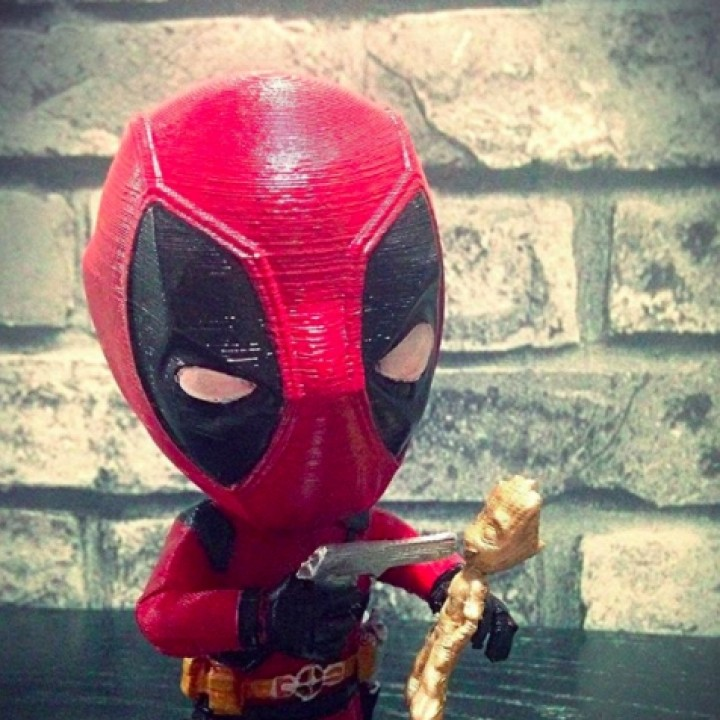 Picture of print of Deadpool vs Groot This print has been uploaded by Wanhao 3D Printers