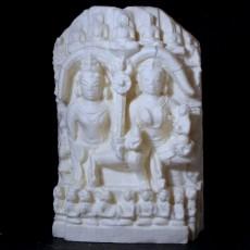 Sitting Jain Yashka and Yakshini