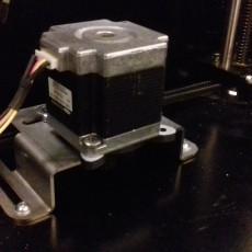 NEMA17 to NEMA23 adapter with threaded holes