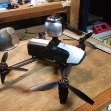 Bebop 2 top camera mount