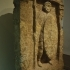 Grave stele of a warior with spear and shield image