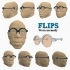 #DesignItWright - FLIPS V02 (New Product Design) - Social Media Flip-Able Spectacles - (Round Open Frames) image