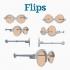 #DesignItWright - FLIPS V02 (New Product Design) - Social Media Flip-Able Spectacles - (Round Open Frames) image