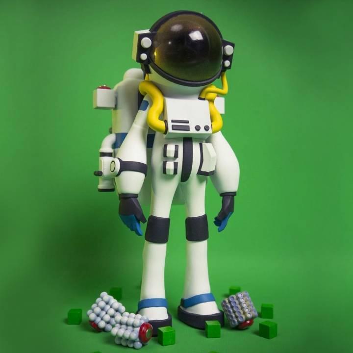 3D Printable Astroneer Figure by Spencer Kern
