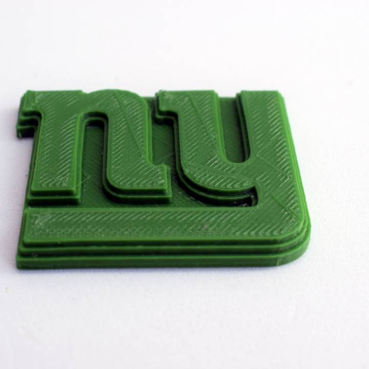 image relating to New York Giants Printable Schedule known as 3D Printable NewYork Giants - Emblem through Chris Schneider