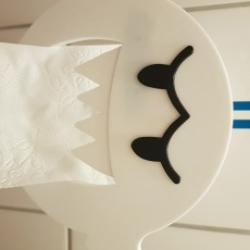 Picture of print of Boo Toilet paper holder