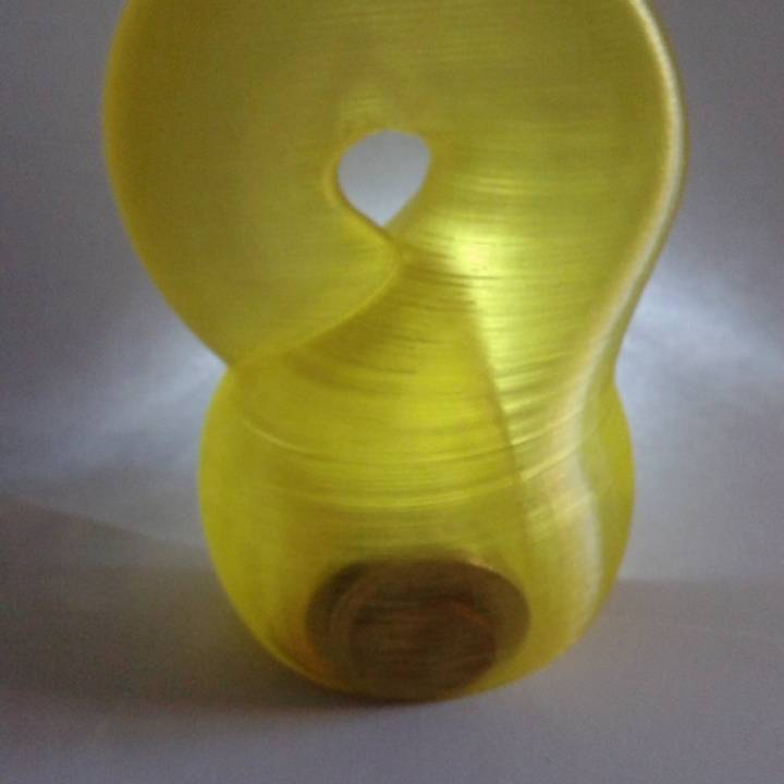 Klein bottle piggy bank (coin bank)