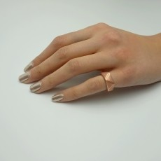 Geometrical Ring Printed with Bronze Filament