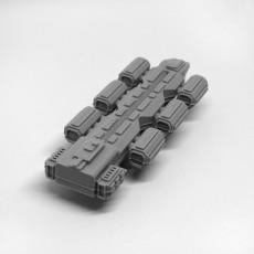 Spaceship for Tabletop Games - Modular Container Ship 1 - Merchant: