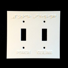 Swith Plate Embossed (Double)