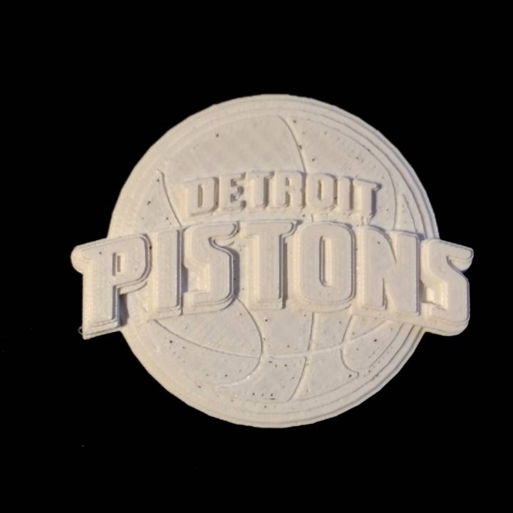 graphic relating to Detroit Pistons Printable Schedule named 3D Printable Detroit Pistons - Brand by means of Chris Schneider