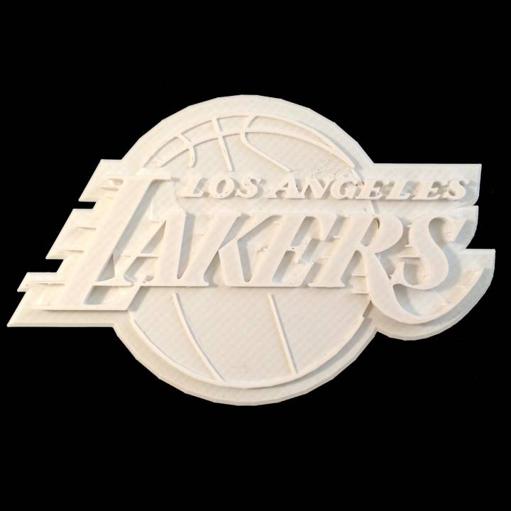 photo about Lakers Schedule Printable named 3D Printable Los Angeles Lakers - Brand by way of Chris Schneider
