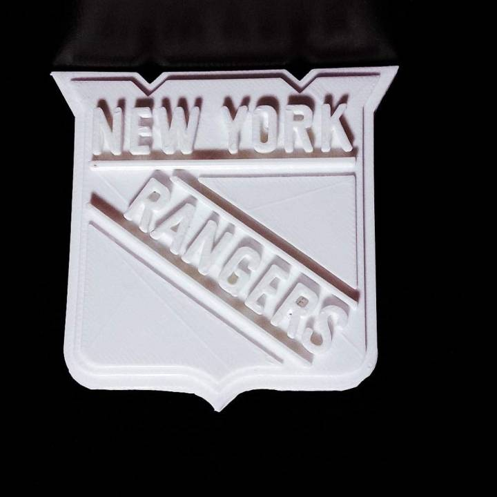 graphic regarding New York Rangers Printable Schedule referred to as 3D Printable NewYork Rangers - Symbol by means of Chris Schneider