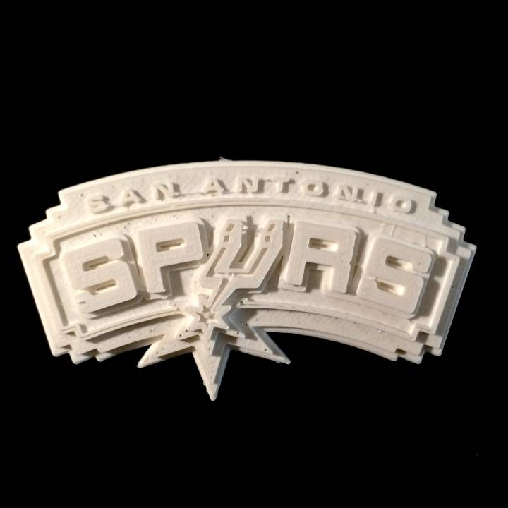 image relating to Spurs Schedule Printable called 3D Printable San Antonio Spurs - Emblem by way of Chris Schneider