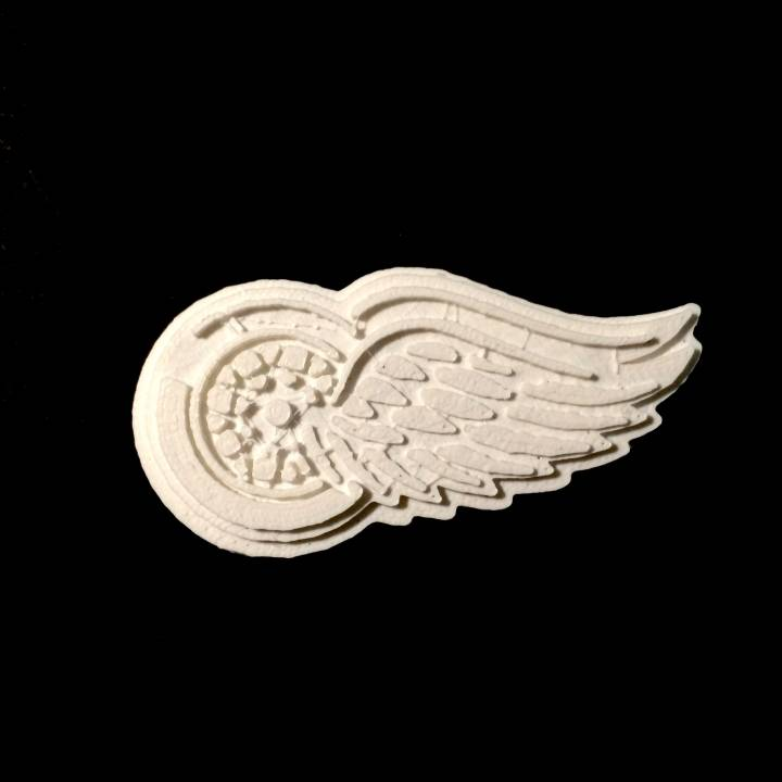 photograph regarding Printable Red Wings Schedule titled 3D Printable Detroit RedWings - Symbol via Chris Schneider