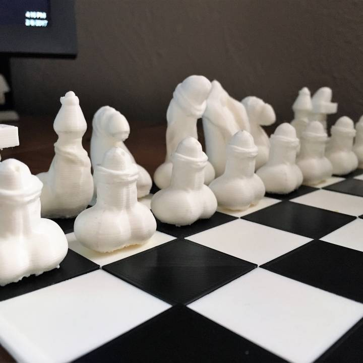 image about Chess Board Printable named 3D Printable Phallic Chess by means of Jackson Richey