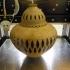 Wooden vase top image