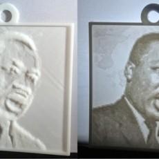 Martin Luther King, Jr. Lithopane