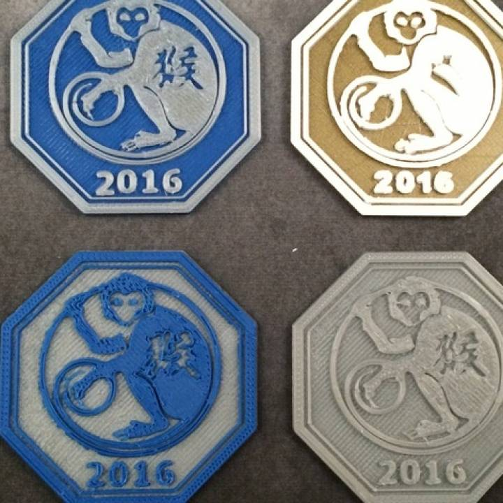 2016 Year of the Monkey Medallion