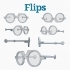 #DesignItWright - FLIPS V04 (New Product Design)- Social Media Flip-Able Spectacles - (Round Closed Frames) image