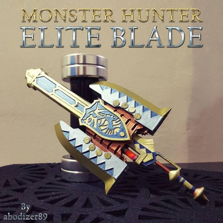 3d Printable Monster Hunter Elite Blade By Abdullah Masri