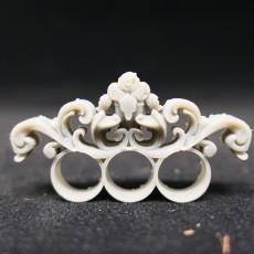 Untitled Three Finger Baroque ring