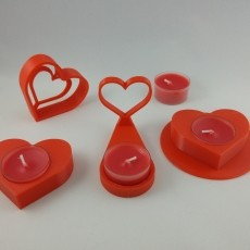 Valentines heart candle holder collection