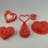 Valentines heart candle holder collection image