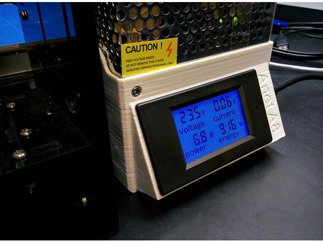Anet A8 Power Supply Cover W\LCD Power Meter