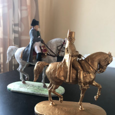 Picture of print of Equestrian statue of Napoleon