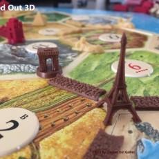Paris Themed Player Set / Settlers of Catan