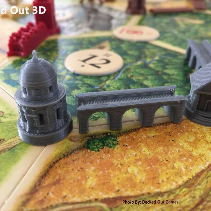 Roman Themed Player Set / Settlers of Catan