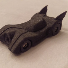 Picture of print of Batmobile in Hot Wheels Scale
