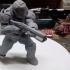 Doom marine (Doomguy) posed with shotgun image
