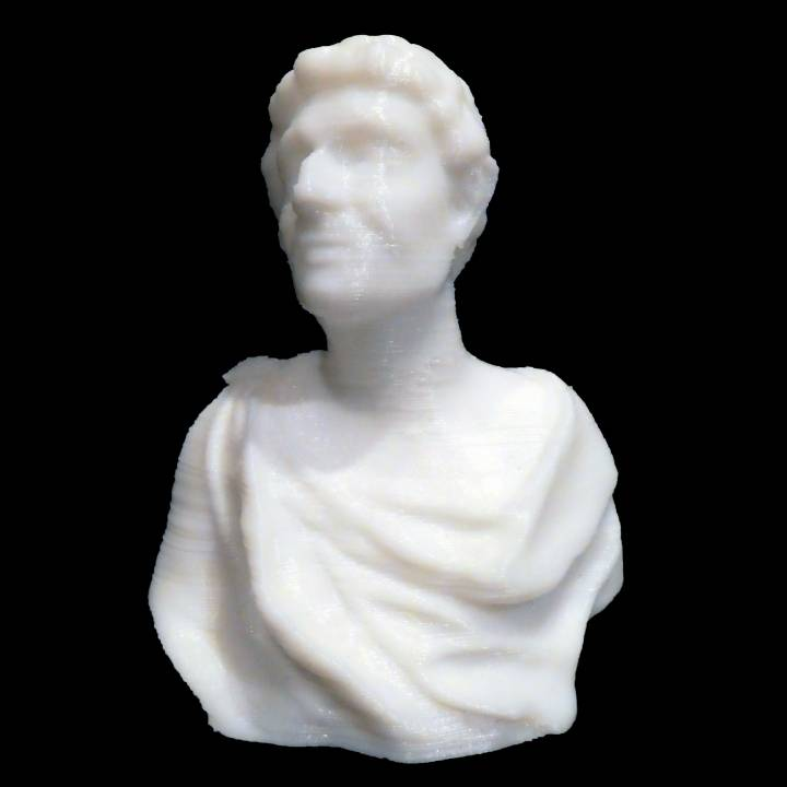 Bust of ancient scientist