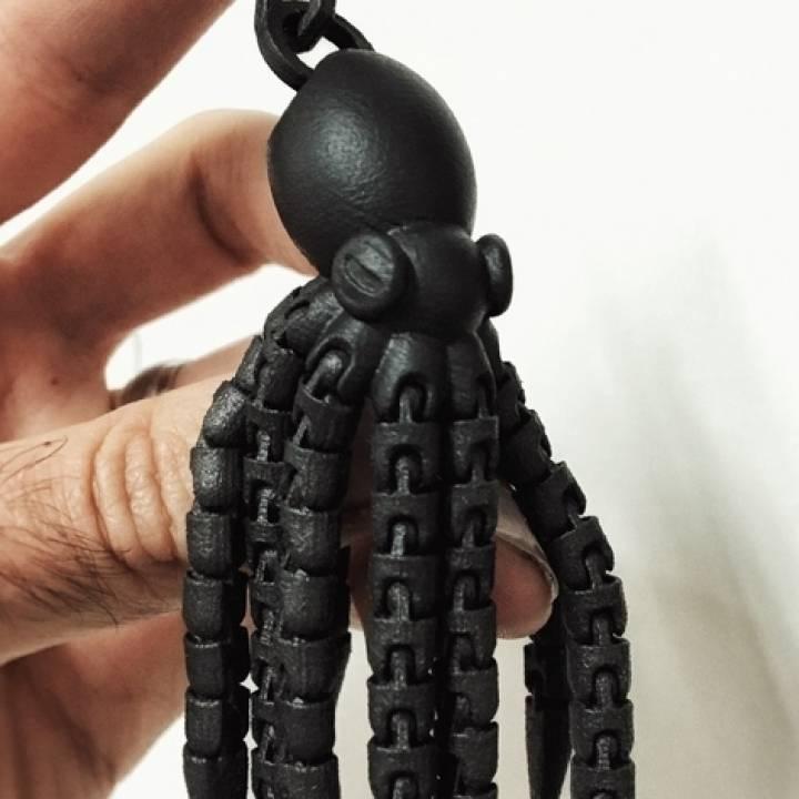 Ball-Joint Articulated Octopus Keyring Remix