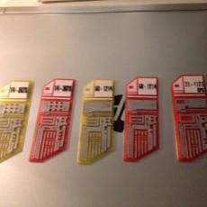 Starfleet Isolinear Data Chips from Star Trek TNG