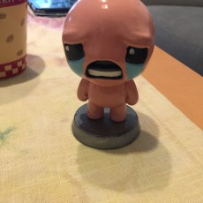 "Picture of print of isaac from ""the binding of isaac"" game"