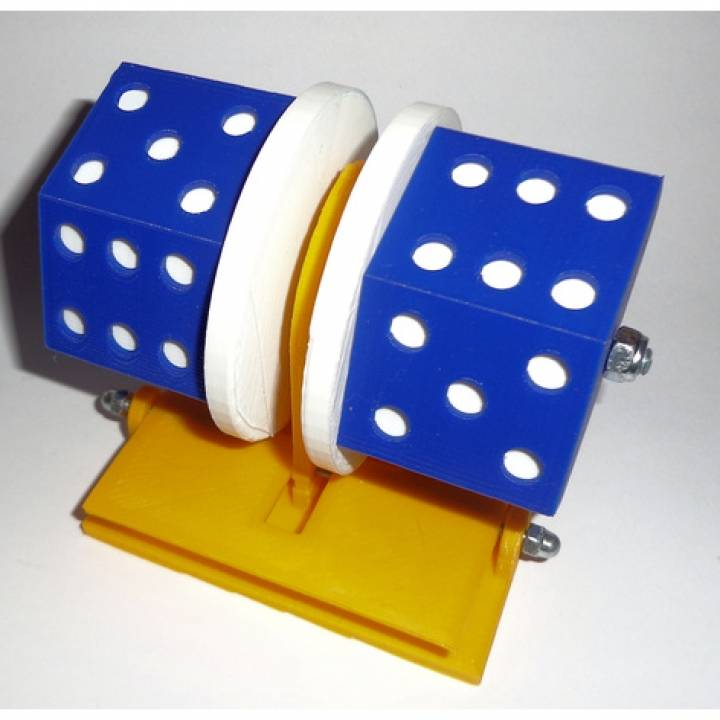 Dice that won't roll off the table